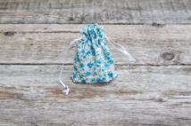 Textilzsák (kék rózsás)