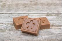 Belga csokoládészappan kocka - Anjou mintával (3x30g)