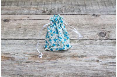 Textilzsák - kék rózsás