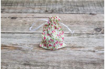 Textilzsák - rózsaszín rózsás